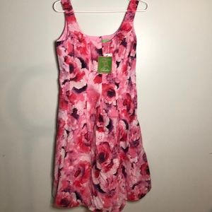 Pink Floral Cotton eyelet dress Pappagallo 6